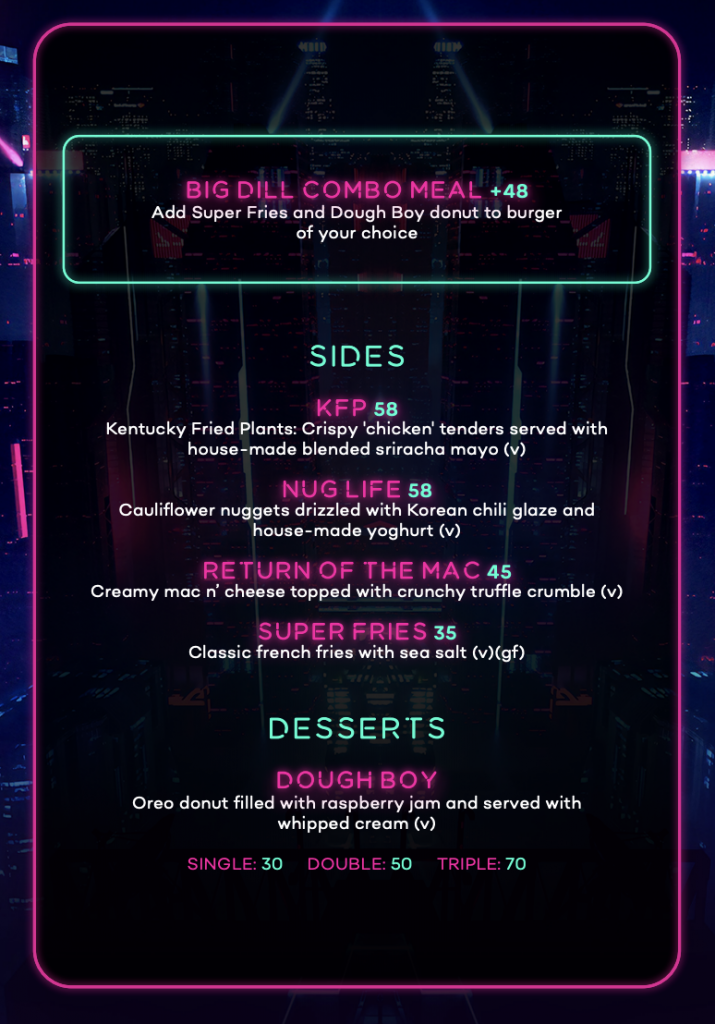 Big Dill Menu Part 2